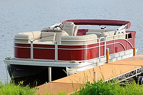 Medium size pontoon boat