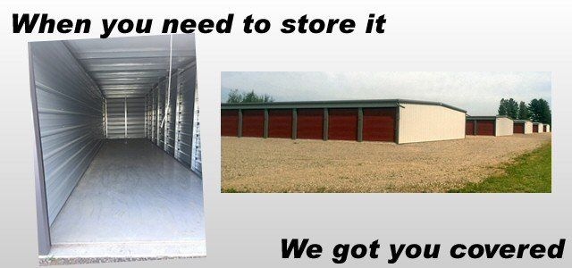 When you need to store it, we got you covered